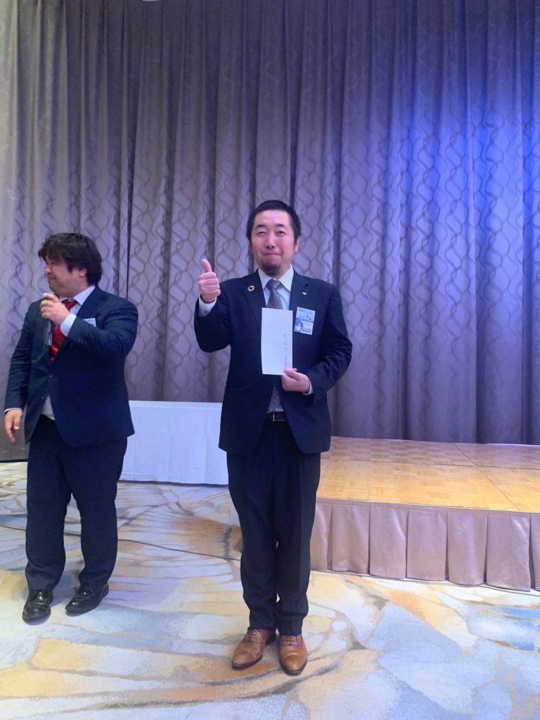 ぷよぷよ大会で優勝した望月次年度委員長